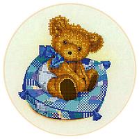 Схема для вышивки бисером Мальчик-медвежонок, размер 23х23 см