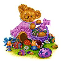 Схема для вышивки бисером Пасхальная малышка, размер 23х23 см