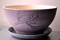 Горшок цветочный керамический, 1л Цвета в ассортименте,, фото 1