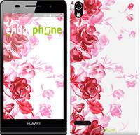 """Чехол на Huawei Ascend P6 Нарисованные розы """"724c-39"""""""