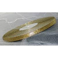 Лента парча 901 золото 7 мм