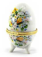 "Шкатулка яйцо ""Желтые цветы""(10х6х6 см)"