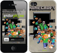 "Чехол на iPhone 4 Minecraft 6 ""3330c-15"""