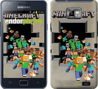 "Чехол на Samsung Galaxy S2 Plus i9105 Minecraft 6 ""3330c-71"""