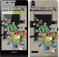 "Чехол на Huawei Ascend P6 Minecraft 6 ""3330c-39"""
