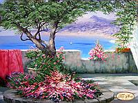 Схема для вышивки бисером Терраса с видом на море (по картине Александра Милюкова)