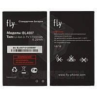 Батарея BL4007 для мобильных телефонов Fly DS123, DS130, original, (Li-ion 3.7V 1700mAh), #200100771/200101103