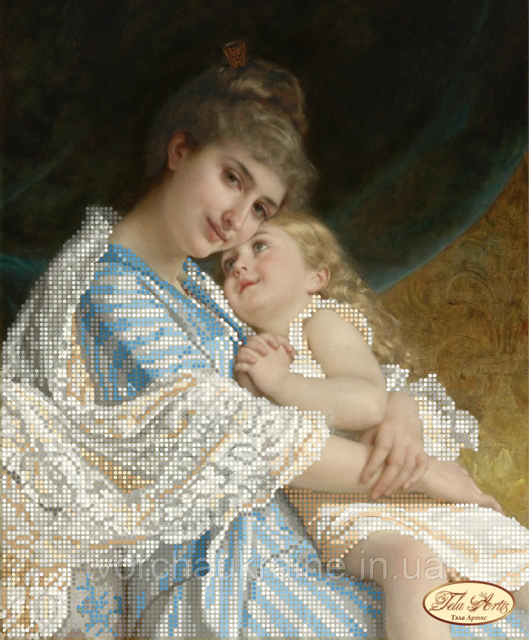 Схема для вышивки бисером Мама и дочка