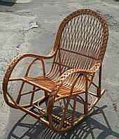 Крісло-гойдалка для жінок з лози