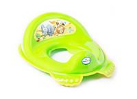 Детская накладка на унитаз антискользящая SF-012 Tega Baby, зелёная