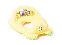 Детская накладка на унитаз антискользящая SF-012 Tega Baby, желтая