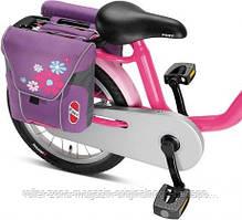 Сумка двойная Puky DT3 лиловая на багажник велосипеда