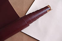 Натуральная кожа для обуви и кожгалантереи бордового цвета арт. СК 2120