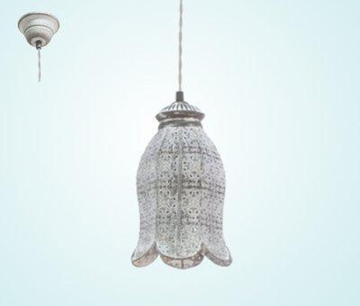 49207 Светильник подвес/1 EGLO E27 серый-патина