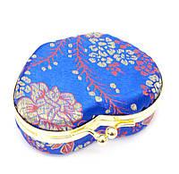 Шкатулка для украшений с зеркальцем синяя (8х7х3,5 см)