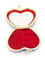 Шкатулка для украшений с зеркальцем розовая (8х7х3,5 см)
