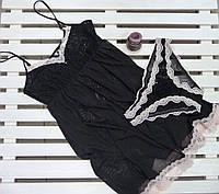Соблазнительный женский комплект сорочка+трусики размер S,М
