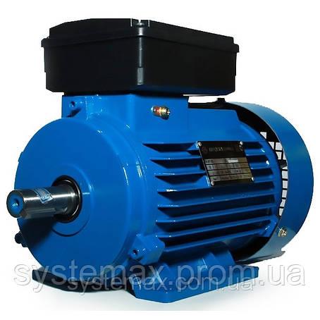 Электродвигатель однофазный АИРЕ80С4 (АИРЕ 80 С4) 1,5 кВт 1500 об/мин, фото 2