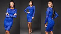 Красивое облегающее гипюровое платье в расцветках 955 (1063)