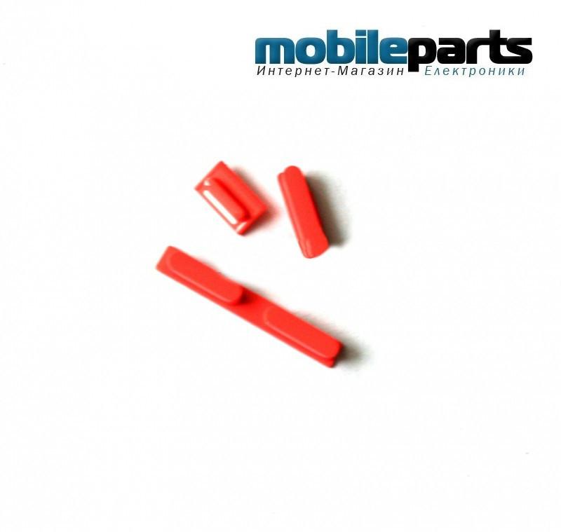 Комплект: питание, громкость, звонок (volume key+power key+mute key blue) для Apple iPhone 5C
