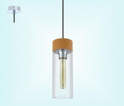 49261 Светильник подвес/1 EGLO E27  хром/прозрачный