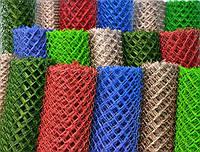 Сетка плетенная Рабица оцинкованная, с ПВХ в ассортименте