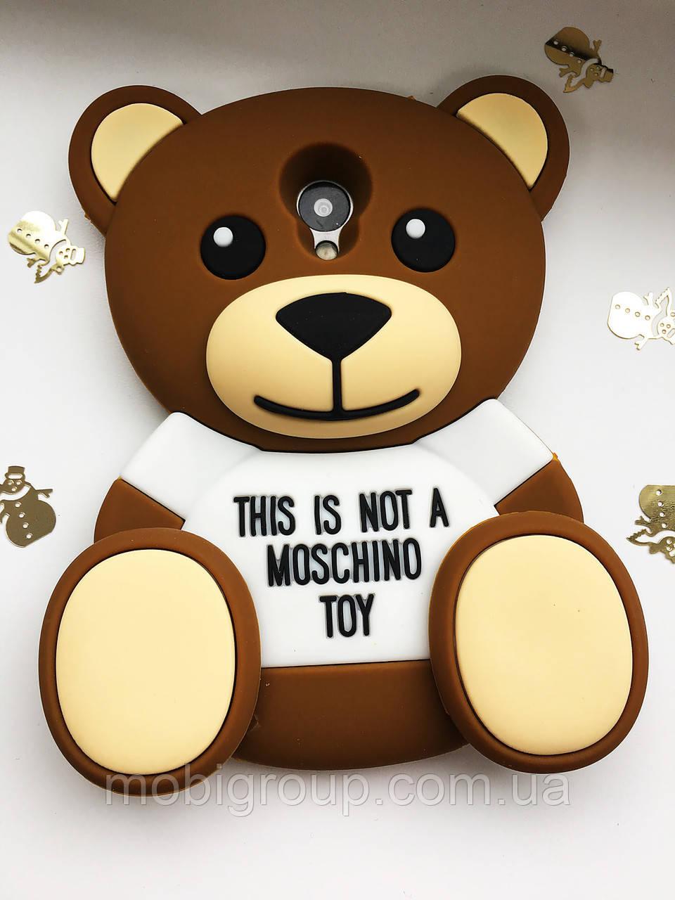 Силиконовый чехол Медведь Mocshino Meizu M2, Мишка