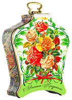 "Чай ""Dolche Vita"" Дольче Вита ""Весенний букет роз"" с магнитом, 100 г ж/б"