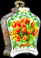 """Чай """"Dolche Vita"""" Дольче Вита """"Весенний букет тюльпанов"""" с магнитом, 100 г ж/б"""