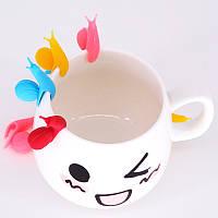 [ Держатель пакетиков улитка ] Цветная силиконовая улитка держатель для пакетика чая