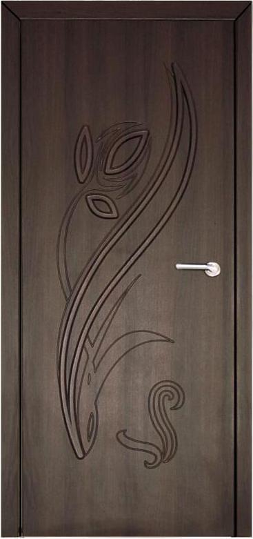 Двери Неман Тюльпан орех шоколадный ПГ