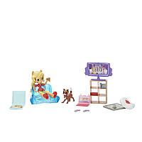 Игровой набор с куклой Эпплджек мини Пижамная вечеринка серия Мy Little Pony Equestria girls, фото 1
