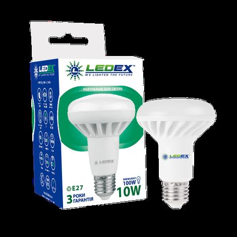 Светодиодная лампа LEDEX, 10W, Е27, 950lm, R80, нейтральный свет 4000К, рефлекторная