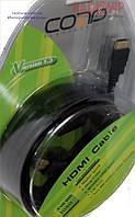 Шнур HDMI (шт.- шт.) диам.-7,3мм с фильтр., в блистере, 5,0м, чёрный