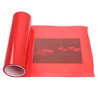 Тонировочная пленка красная на авто защитная для тонировки фар самоклеющаяся (30х100, 1 метр) красного цвета