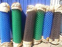 Сетка Рабица  с полимерным покрытием ячейка 40х40 ; 45х45 ; 50х50мм проволока 1.8 /2.8 мм высота рулона 1-2 м