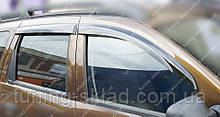 Вітровики вікон Рено Дастер (дефлектори бокових вікон Renault Duster)