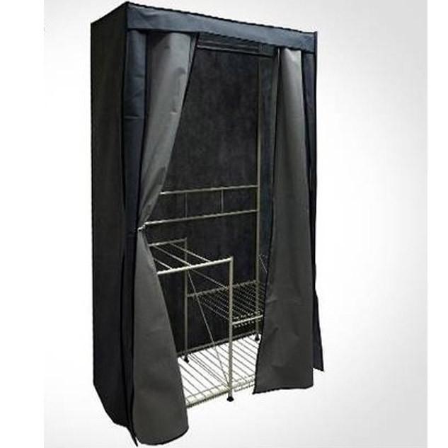 Шкаф тканевый с металлическими полками 1091