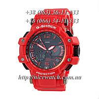 Часы мужские Копия Casio G-Shock Aviator Red/Red/Black черные
