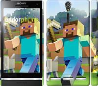 """Чехол на Sony Xperia SP M35H Minecraft 4 """"2944c-280"""""""