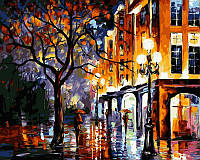 Рисование по номерам 40×50 см. Дождь в Майами Художник Леонид Афремов