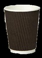 Стакан бумажный гофрированный 400мл коричневый