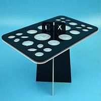 Підставка для сушіння кистей (на 26 кистей) чорний колір