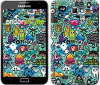 """Чехол на Samsung Galaxy Note i9220 Стикер бомбинг 1 """"693u-316"""""""