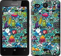 """Чехол на Microsoft Lumia 430 Стикер бомбинг 1 """"693u-153"""""""