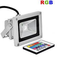 Светодиодный прожектор LEDEX 10W RGB COB 800Lm IP65 с ПДУ, 7 основных цветов, фото 1