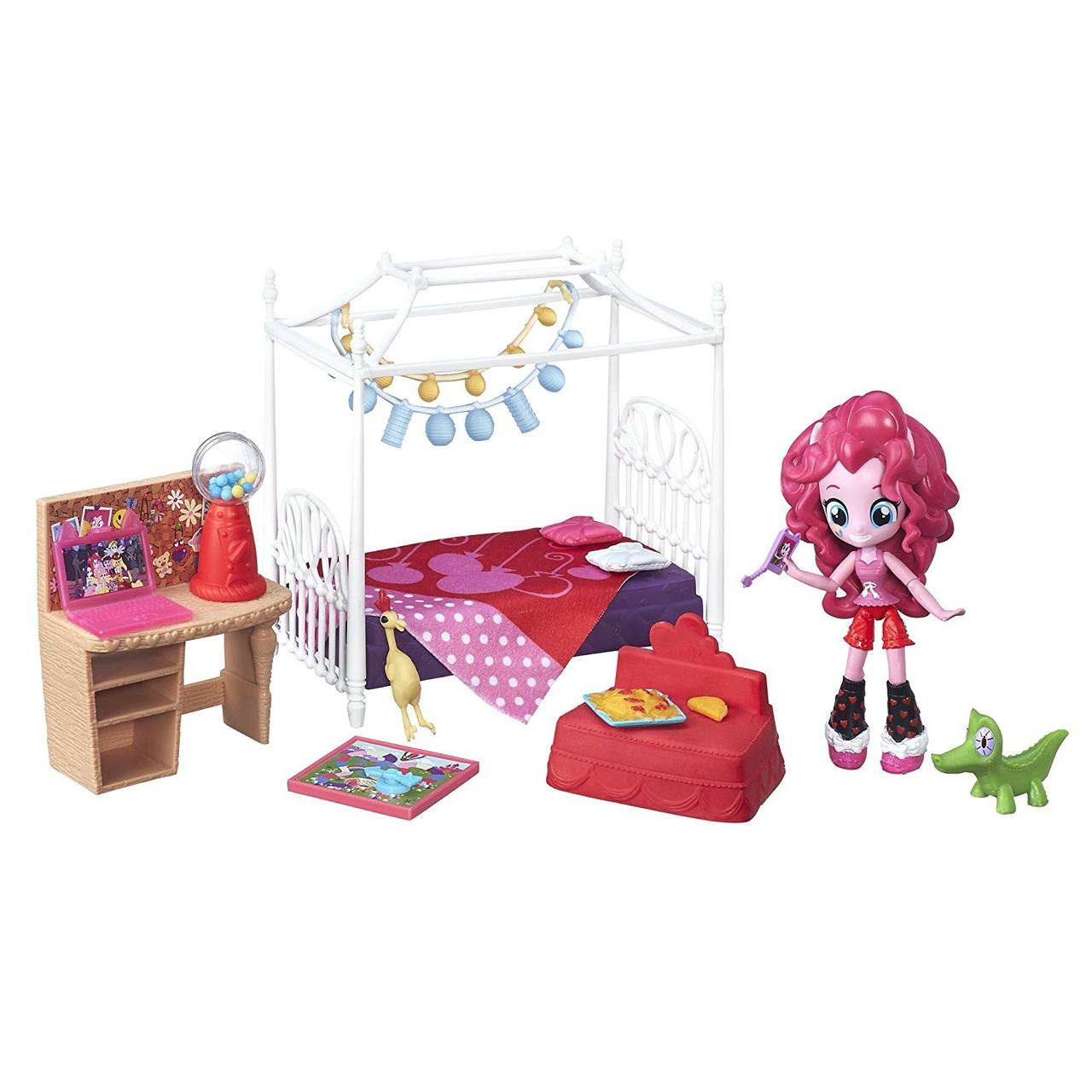 Игровой набор  Пинки Пай мини Пижамная вечеринка Спальный гарнитур серия Мy Little Pony Equestria girls