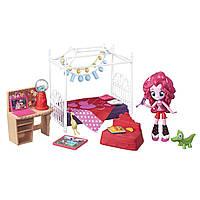 Игровой набор  Пинки Пай мини Пижамная вечеринка Спальный гарнитур серия Мy Little Pony Equestria girls, фото 1
