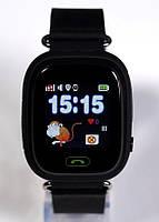 Детские умные gps часы сенсор Smart baby watch Q100 Wifi black Гарантия 12 мес