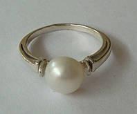Кольцо К2290ММ, серебро 925 проба, жемчуг.